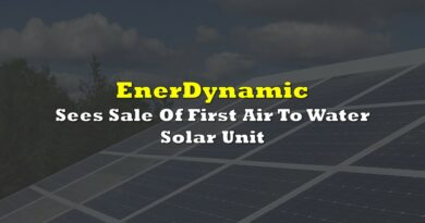 EnerDynamic Sees Sale Of First Air To Water Solar Unit