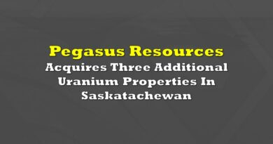 Pegasus Resources Acquires Property With Historic Resource Of 535,718 Pounds U3O8