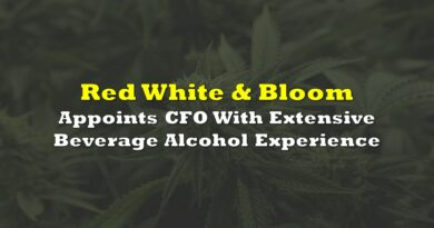 Red White & Bloom Appoints CFO With Extensive Beverage Alcohol Experience