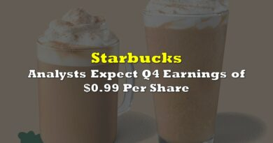 Starbucks: Analysts Expect Q4 Earnings of $0.99 Per Share