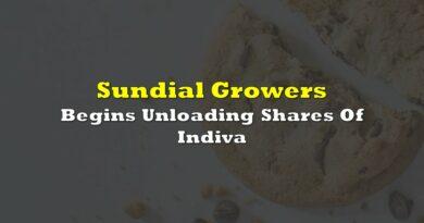 Sundial Growers Begins Unloading Shares Of Indiva